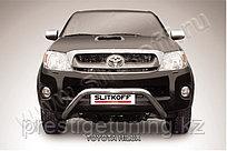 """Кенгурятник d57 низкий широкий """"мини"""" Toyota Hilux 2005-11"""
