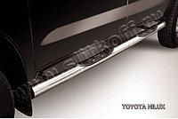 Защита порогов d76 с проступями Toyota Hilux 2005-11