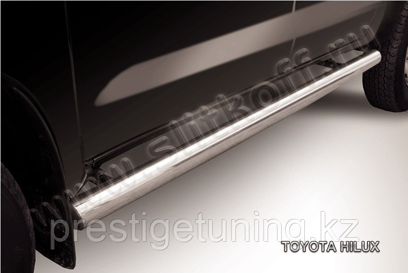 Защита порогов d76 труба Toyota Hilux 2005-11