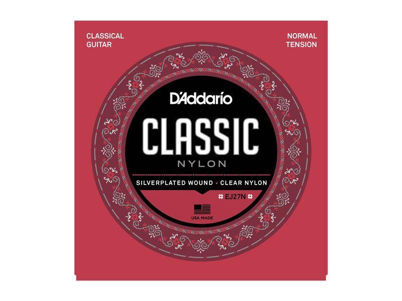 EJ27N CLASSIC Струны для классической гитары нейлоновые Student Normal D`Addario
