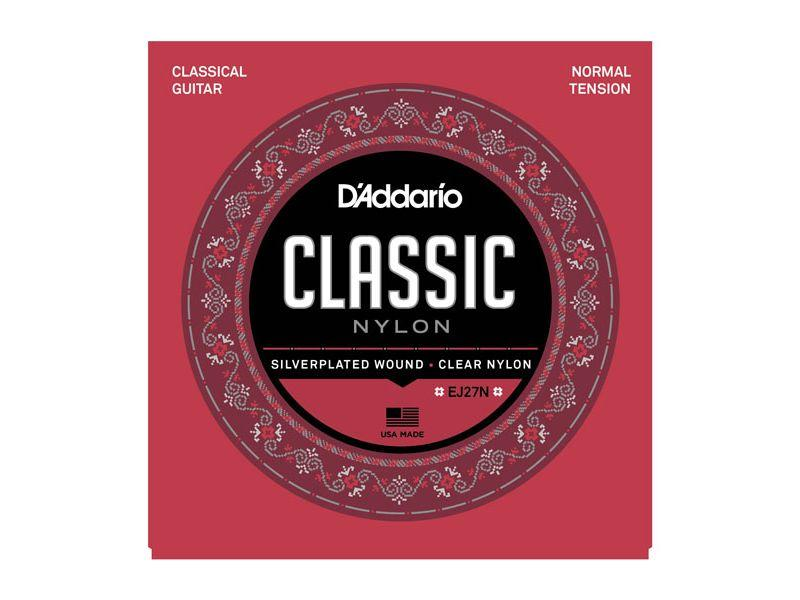 Струны для классической гитары нейлоновые Student Normal D`Addario EJ27N CLASSIC