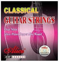 Комплект струн для классической гитары, нейлон, посеребренные, Alice A107N