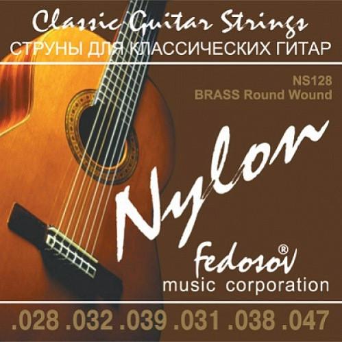 NS128 Brass Round Wound Комплект струн для классической гитары, нейлон/латунь, 28-47, Fedosov