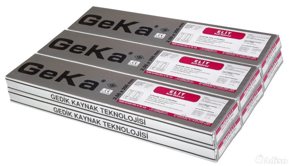 ЭЛЕКТРОДЫ Ø-2,5 перемен. GEKA  2,1 кг