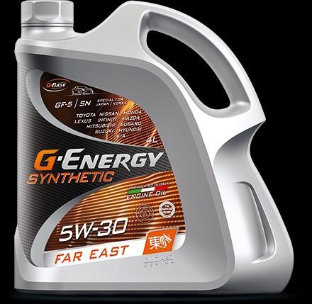 G-Energy Synthetic Far East 5W-30 синтетическое моторное масло для японских автомобилей 4л
