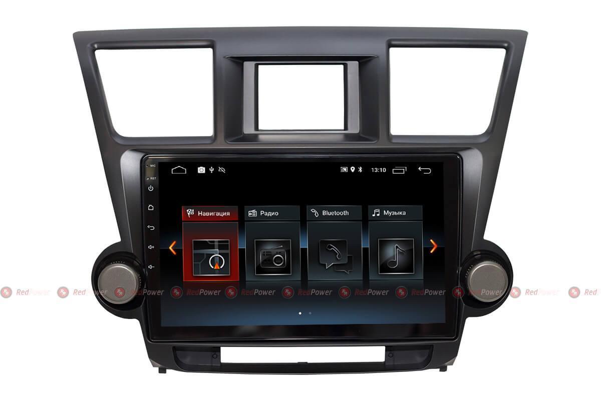 Автомагнитола для Toyota Highlander Redpower 30035 IPS ANDROID 8