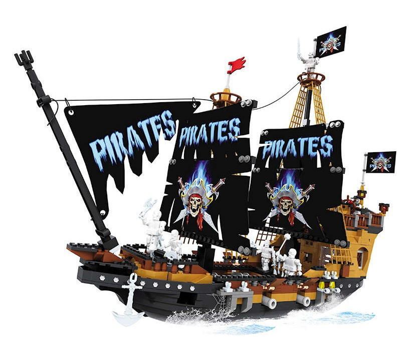 """Игровой конструктор Ausini 27004 (Пиратский галеон """"Чёрная Жемчужина"""", 840 деталей)"""