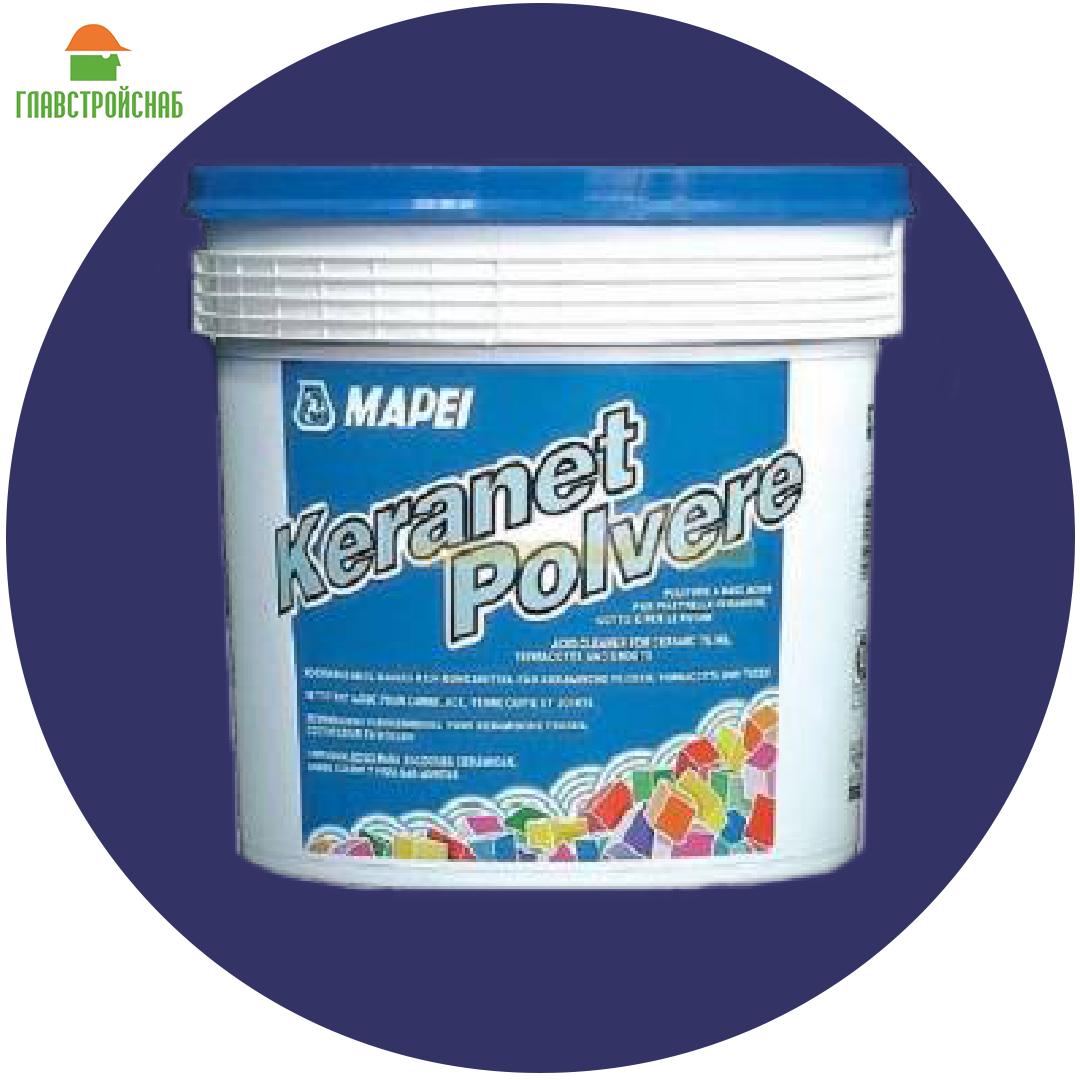 KERANET POLVERE  порошок для очистки поверхностей от цемента, извести и пр. 1 кг