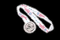 Медаль ЖХЛ за 2-ое место (с лентой)