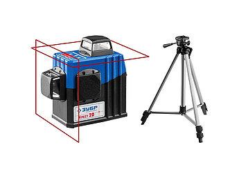 (34907) ЗУБР КРЕСТ 2D нивелир лазерный 2х360°, 20м/70м, точн. +/-0,3 мм/м