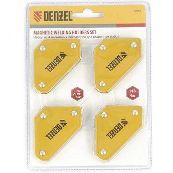 (97555) Набор из 4 магнитных фиксаторов для сварочных работ// Denzel