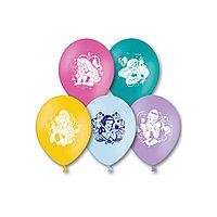 Воздушные шарики ВЕСЁЛАЯ ЗАТЕЯ, 1111-0281, Disney Принцессы, (5 шт. в пакете), Размер 30 см