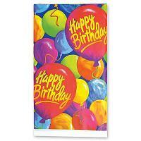 Скатерть праздничная AMSCAN, 1502-0522, Happy Birthday!, 260 х 140 см., полиэтилен