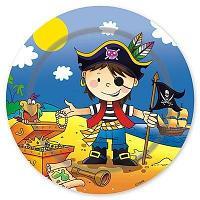 Тарелка праздничная Маленький пират, диаметр 17 см., (6 шт. в пакете)