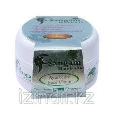 Cкраб для лица сухой (uptan) Sangam Herbals (Sandal)