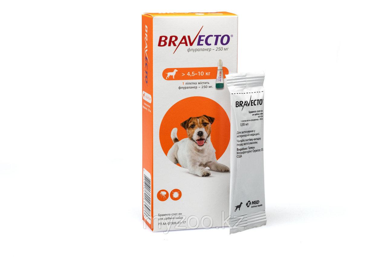 Бравекто Капли для собак, 4,5-10 кг
