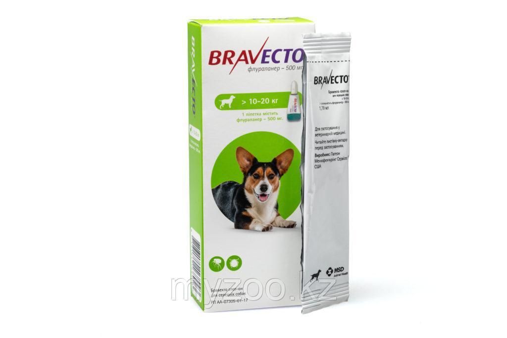 Бравекто Капли для собак, 10-20 кг