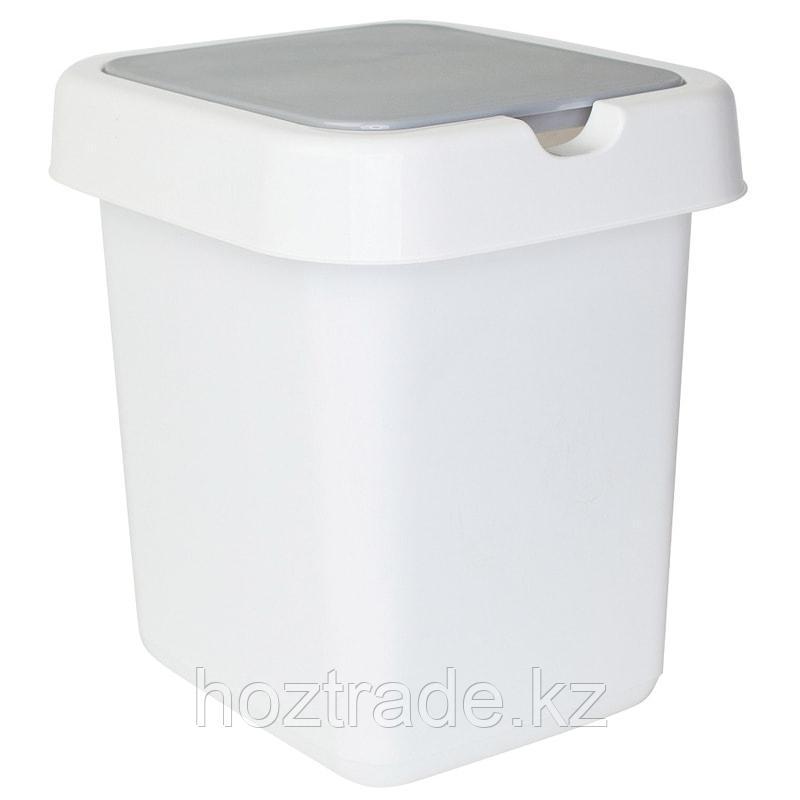 """Ведро-контейнер для мусора (урна) Svip """"Квадра"""", 14л, прямоугольное, пластик, белое"""