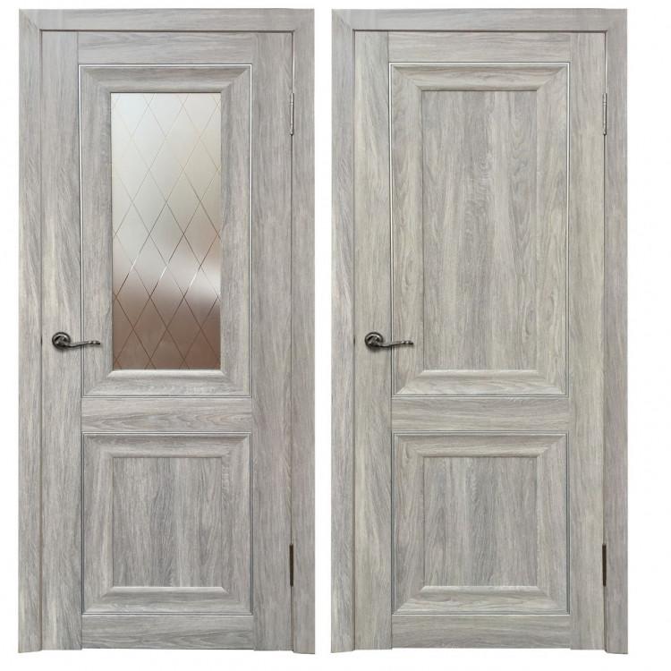 Дверь Аура дуб.пепельный