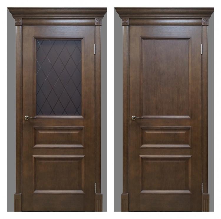 Дверь Вельми 2 дуб тонированный