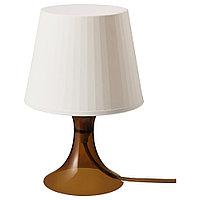 ЛАМПАН Лампа настольная, коричневый, 29 см, фото 1