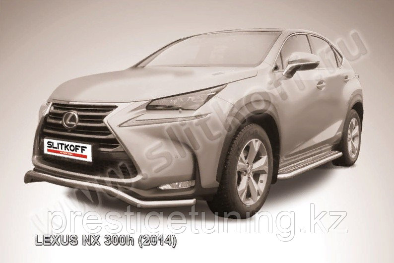 "Защита переднего бампера d57 ""волна"" Lexus NX 300h 2014-18"