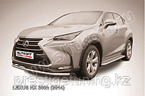 Защита переднего бампера d57 радиусная Lexus NX 300h 2014-18