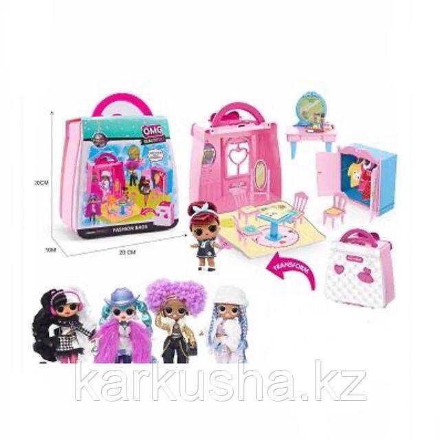 Раскладной кукольный домик LQL с куклами