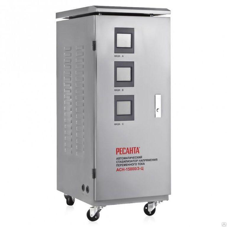 Стабилизатор трехфазный Ресанта АСН-15000/3-Ц 63/4/17 (15 кВт)