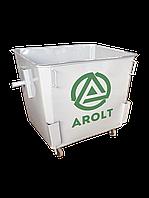 Мусорный контейнер для ТБО 1,1 м3 Евро контейнер на колесах, без крышки