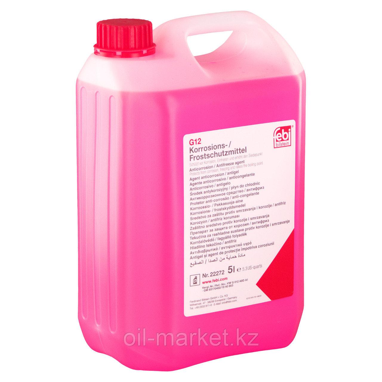 FEBI 22272 антифриз красный 5L концентрат 1:1 -40°C G12