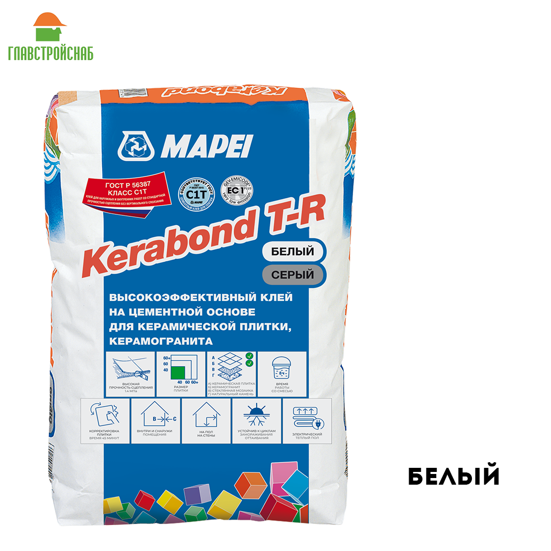 Kerabond T-R клей для кафеля на цементной основе Белый