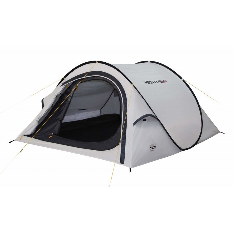 Палатка HIGH PEAK Мод. BOSTON 2 (2-x местн.)(250х120x90см)(2,20кГ)(нагрузка: 2.000мм)(светло-серый) R89067 - фото 1