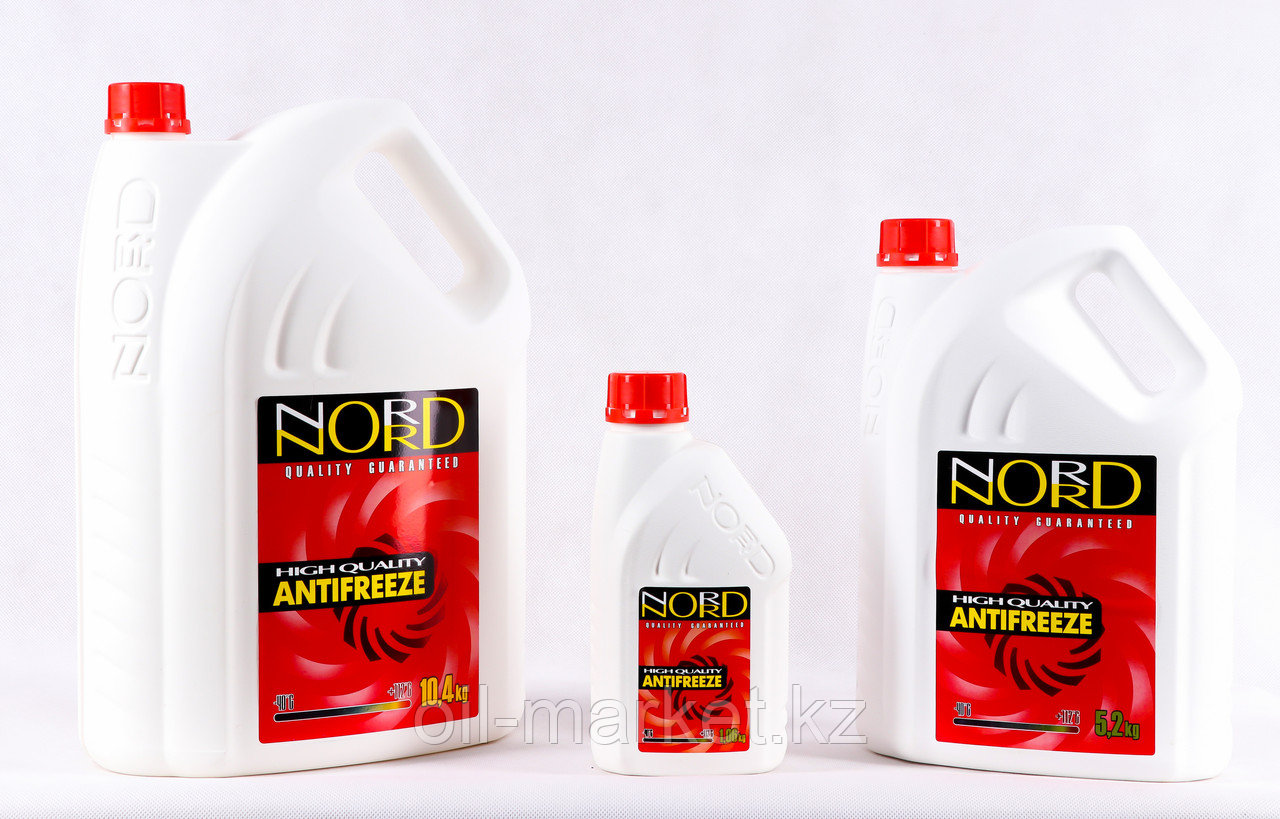 Охлаждающая жидкость Антифриз NORD красный 5.2 кг