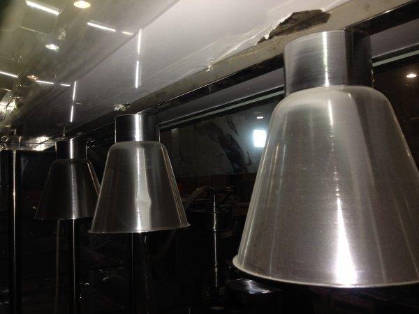 Стол Шведский тепловой с лампами «Atlas» (защитное стекло вверху) BN-B07, 8 GN1/1