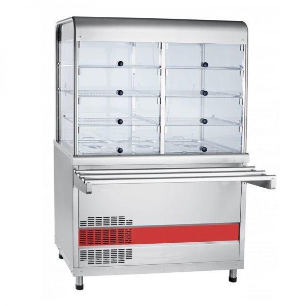 Прилавок- витрина холодильный ABAT ПВВ(Н)-70КМ-С-02-НШ
