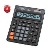 Калькулятор настольный Citizen SDC-444S, 12 разр., двойное питание, 153*199*31мм, черный