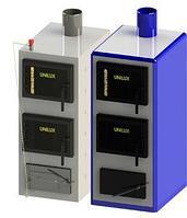 Угольный котел Unilux КУВ-25 (25кВт • 200-250м²)  (с кожухом)