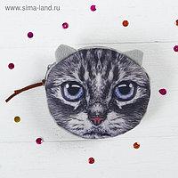 Мягкий кошелёк «Кисонька», голубые глазки