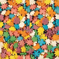 Посыпка Сахарная Цветы разноцветная, 200 грамм
