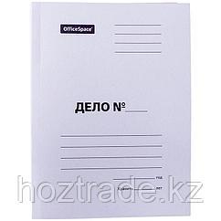 """Скоросшиватель OfficeSpace """"Дело"""", картон немелованный, 260г/м2, белый, пробитый, до 200л."""