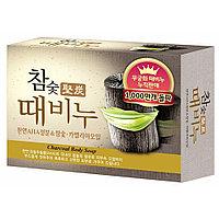 Мыло-скраб с древесным углем от Mukunghwa Hardwood Charcoal Scrub Soap