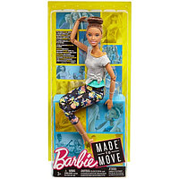 Барби Безграничные движения Шатенка с пучком.