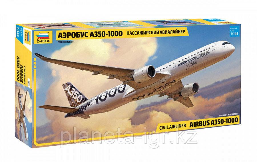 Сборная модель Пассажирский авиалайнер Аэробус А-350-100