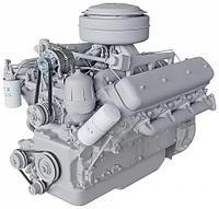 ЯМЗ-238М2 V-образный 8-цилиндровый дизельный двигатель, фото 1