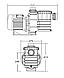 Насос для бассейна Emaux SB30 c префильтром, фото 10