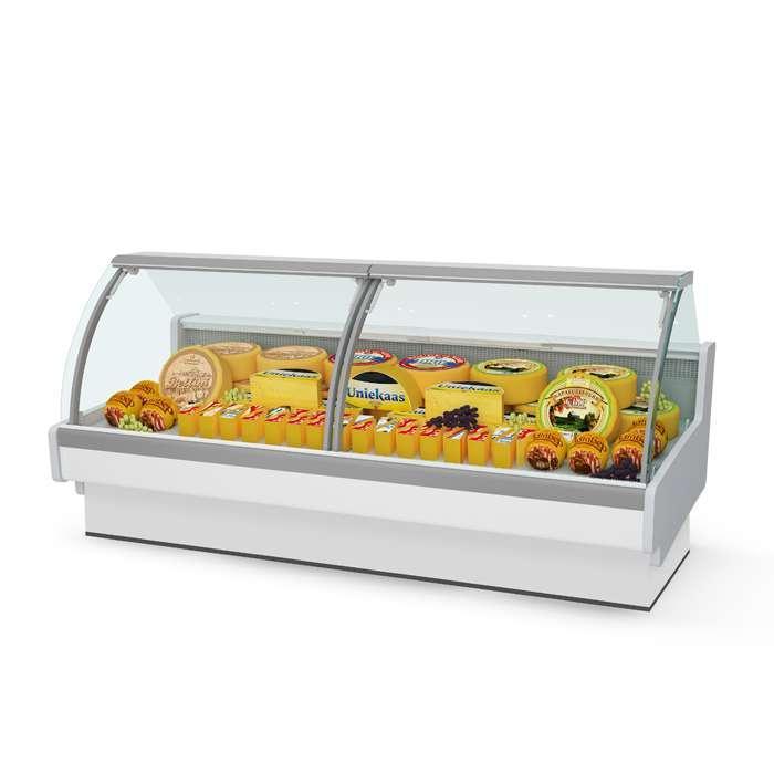 Витрина холодильная Aurora 375 рыба на льду Self