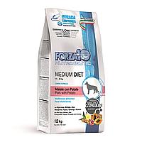 Гипоаллергенный корм Forza10 Medium Diet для взрослых собак (Свинина с Картофелем) - 12 кг