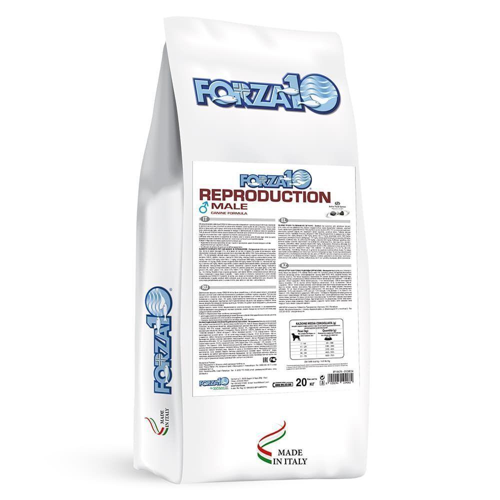 Корм Forza10 Reproduction Male для взрослых собак, в репродуктивный период (Рыба) - 20 кг