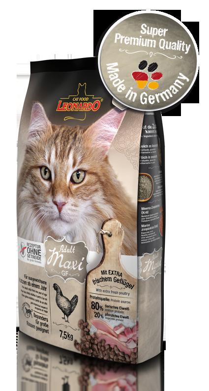 Беззерновой корм Leonardo Adult Grain Free Maxi для взрослых кошек крупных пород - 300 г